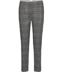 d1. checked classic tapered pant pantalon met rechte pijpen blauw gant