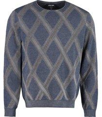 giorgio armani long sleeve crew-neck sweater