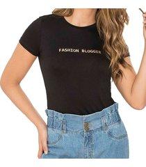 blusa fashion negro para mujer croydon