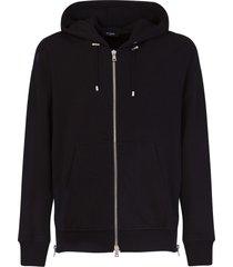 balmain foil logo hoodie