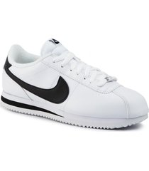 tenis nike cortez basic leather para hombre - blanco
