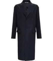 valentino vltn wool long coat