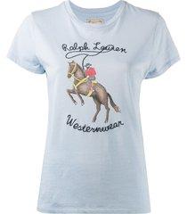 polo ralph lauren cowboy westernwear logo t-shirt - blue