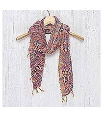 cotton scarf, 'charming candy' (thailand)