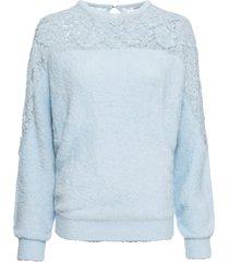maglione con maniche a pipistrello e pizzo (viola) - bodyflirt