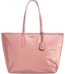 tumi voyageur everyday nylon tote - pink