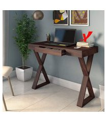 mesa escrivaninha artany veneza mdp 1 gaveta marrom