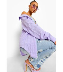 oversized blouse met textuur, lilac