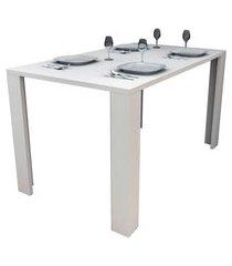 mesa de jantar retangular liv branca 136 cm