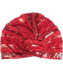 maryjane claverol gypsy turban hat - red
