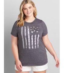 lane bryant women's bandana american flag graphic tee 10/12 night sky