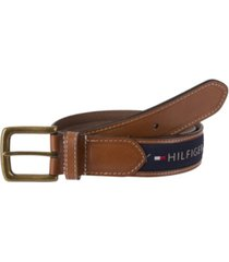 tommy hilfiger ribbon inlay men's belt