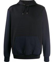 paul smith gents two tone hoodie - black