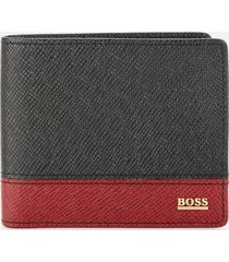 boss hugo boss men's signature wallet - black