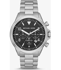mk orologio gage oversize tonalità argento - argento (argento) - michael kors