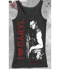 authentic the walking dead i heart love daryl juniors jrs tank top shirt m