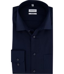 seidensticker overhemd donkerblauw regular
