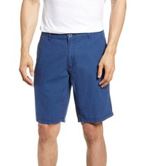 men's onia austin linen shorts, size 32 - blue