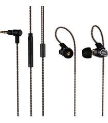 audifonos in-ear con bocina de doble efecto remax rm580 - negro