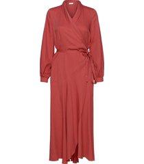 olivia wrap dress knälång klänning röd storm & marie
