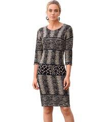 gebreide jurk amy vermont grijs::zwart::beige