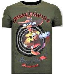 t-shirt korte mouw local fanatic stoere crime empire