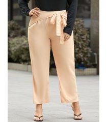 pantalones de diseño de amarre de talla grande yoins