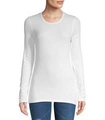 ribbed crewneck long-sleeve tee