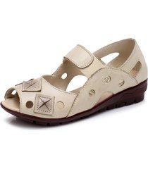 scarpe piatte con punta piatta in peep toe
