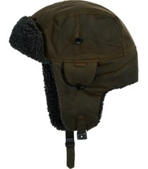 barbour men's fleece-lined trapper hat