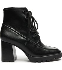 mayah bootie - 10 black leather