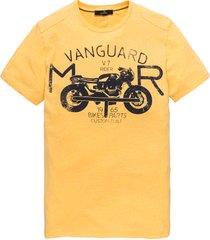vanguard t-shirt print vtss194696-1142 geel