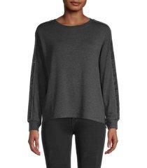 philosophy women's crewneck sweatshirt - charcoal - size xs