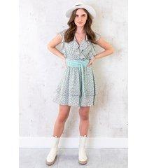 ruffle floral dress mint