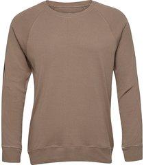 cotton rib stelt tape sweat-shirt tröja brun mads nørgaard