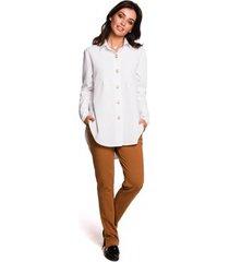 overhemd be b122 kraag overhemd - wit