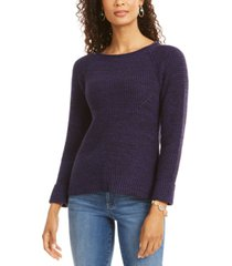 style & co crewneck marled sweater, created for macy's