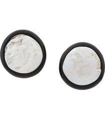 monies unique pearl earrings - white