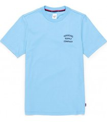 herschel t-shirt supply co. women's tee stack logo alaskan blue peacoat-xs