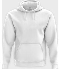 męska bluza z kapturem (bez nadruku, gładka) - biała