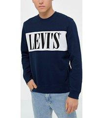 levis logo colorblock crew logo colo tröjor blue