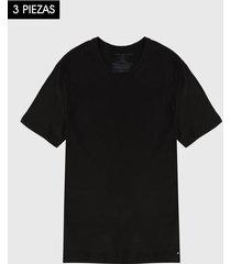 camiseta negro tommy jeans
