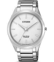 reloj  hombre super titanio plateado citizen