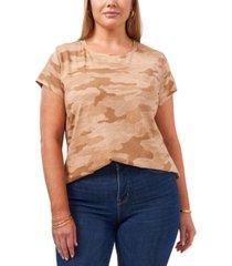 1.state trendy plus size camo-print t-shirt