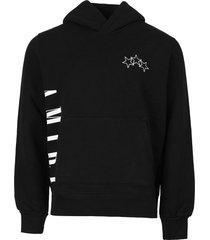 vertical logo hoodie black