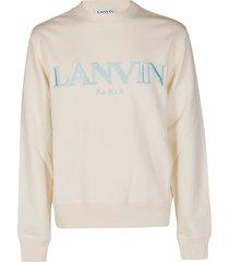 lanvin ecru cotton sweatshirt