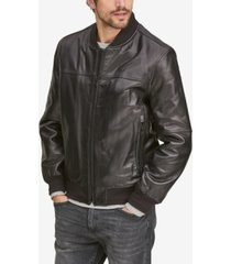 marc new york men's summit leather bomber jacket