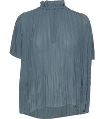 lady ss blouse 6621 blouses short-sleeved blauw samsøe & samsøe