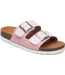 vmcarla leather sandal shoes summer shoes flat sandals rosa vero moda
