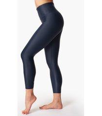 high shine high-waisted 7/8 leggings